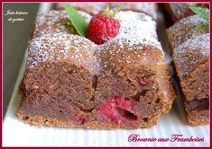 brownie aux framboises