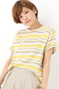 SLOBE IENA(スローブ イエナ) マルチボーダーボックスTシャツ | スタイルクルーズ