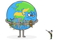 Brilliant illustration 💙 Our Earth is Angry, really Angry right now 😕 Our Planet, Save The Planet, Save Earth Posters, Save Earth Drawing, Pictures With Deep Meaning, Earth Drawings, Satirical Illustrations, Save Our Earth, Save Animals