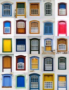 Windows of Paraty in #Brazil - Uma não, Várias janelas !! *o*
