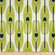 Two 20 x 20 Custom Designer Decorative Pillow Covers - Feathers - Citrine/Navy/Lime