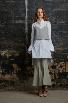 Rosie Assoulin Fall 2015 Ready-to-Wear - Collection - Gallery - Style.com #fashion #layering
