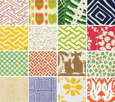 ^ Looks like some fun fabrics  Quadrille - China Seas Collection