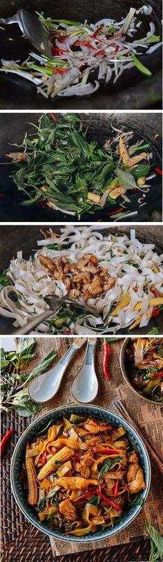 Drunken Noodles (Pad Kee Mao) Recipe by The Woks of Life