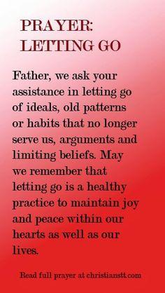 Prayer to let go