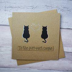 New Wedding Card Diy Congratulations Black Ideas Anniversary Cards For Couple, Wedding Anniversary Cards, Anniversary Ideas, Handmade Greetings, Greeting Cards Handmade, Congratulations Card, Engagement Congratulations, Pun Card, Wedding Cards Handmade