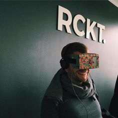 An awesome Virtual Reality pic! Virtual Reality drives Konsta crazy.  @mrcardboard.eu #virtualreality #officefun #job #office #agency #startup #berlin #rckt #3D #popup #cardboard #mrcardboard #virtual #adventure #rollercoster @mrcardboard.eu @jeremycothran by rcktcom check us out: http://bit.ly/1KyLetq