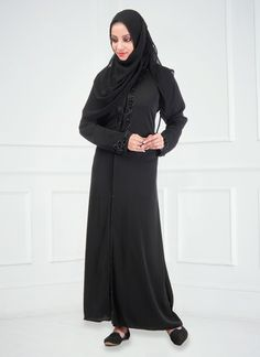 Fabulous Black #Viscose #Abaya