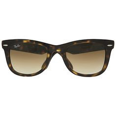 Buy Ray-Ban RB4105 Folding Wayfarer Sunglasses, Light Havana Online at johnlewis.com