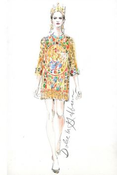 Dolce and Gabbana Fashion Illustration