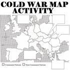 Map of 1950s Europe and activity.  Students are asked to label countries, answer a few questions, and asked to describe how countries fell to commu...