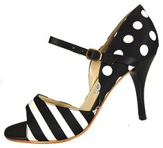 Always a fan of the Mary Jane style- and of the stripes and polka dots
