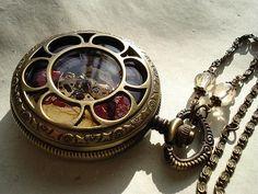 Art nouveau Pocket watch Necklace