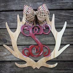 Deer antler door hanger