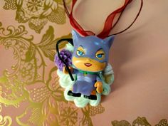 Chibi Cat Woman Decoden Necklace Kawaii Whipped Cream and Candy Desserts Chocolate