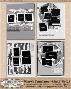 Missy's Templates Set.11 (8.5x11) @Melissa Brown Carlson-Strand