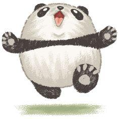 Happy panda by Toru Sanogawa, via Behance