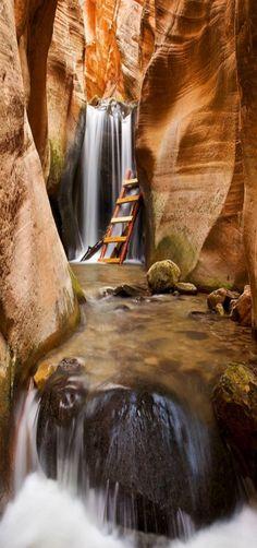 Slot Canyon, Southwest Utah, USA by Steve Dunleavy