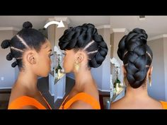 EASY ELEGANT UPDO ON 4C NATURAL HAIR /Protective Style /Tupo1
