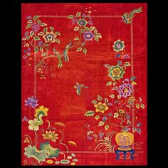 Stock Id: #19748  General Rug Type:      Chinese  Specific Rug Type:      Chinese - Art Deco  Circa: 1920  Color: Red  Origin: China  Width: 9' 0'' ( 274.3 cm )  Length: 11' 8'' ( 355.6 cm )