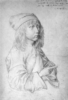 Self portrait at the age of thirteen, 1484 by Albrecht Dürer