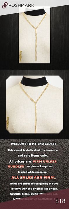 """💠CLEARANCE New Wide Black &a Gold Drop Choker💠💠 PRICE FIRM UNLESS BUNDLED New Black Choker Gold and Silver Drop Chain Combo Choker  Chain Colors Avail: Gold and Silver  Package includes one set  Choker color: Black Only (Attached)  Chain Length: 9""""  Manufactured in China Glam Squad 2 You Jewelry Necklaces"""
