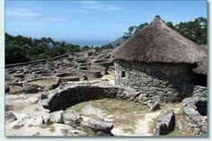 Celtic ruins of Castro de Santa Tegra, southern Galicia, Spain