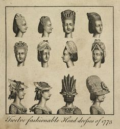 American Duchess: 18th Century Museum of London - 1773 - a very interesting bonnet design in the lower right