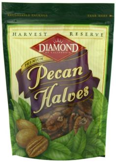 Diamond Harvest Reserve Premium Pecan Halves, 5-Ounce Bags (Pack of 6) >>> Final call for this special discount  : baking desserts recipes