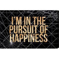 Pursuit of Happiness Night Canvas Print, Oliver Gal