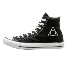 Jajade Unisex Harry Potter And The Deathly Hallows High Top Sneakers Canvas Shoes Fashion Sneakers Shoes Dancing 43 Black >>> Find out more about the great product at the image link.