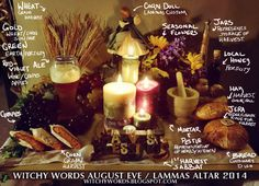 Witchy Words: August Eve / Lammas / Lughnasadh Altar 2014
