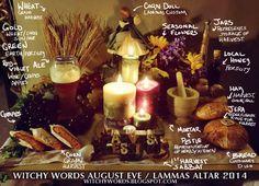 Witchy Words: August Eve / Lammas / Lughnasadh Altar 2014