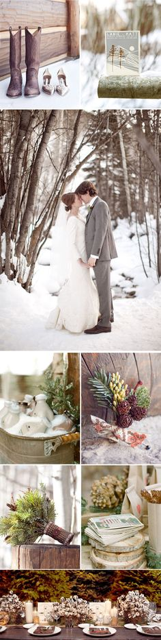 CO winter wedding