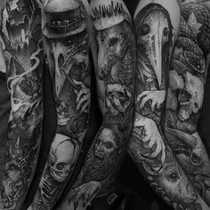 """2,863 Likes, 22 Comments - Rob Borbas (@grindesign_tattoo) on Instagram: """"Couple of sleeves i have started in the last few weeks, Only a selection of them. I cannot share…"""""""