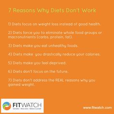7 Reasons Why Diets Don't Work | Blog