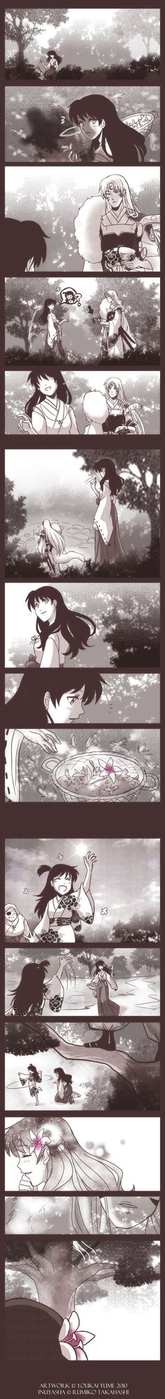 """SessKag: A Mere Token by YoukaiYume.deviantart.com on @deviantART If you love the pairing of Sesshoumaru and Kagome I urge you to go see her stuff. Especially """"Raindrops""""."""