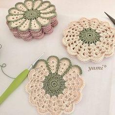 63 Ideas For Crochet Free Pattern Granny Square Haken patrones Crochet Coaster Pattern, Crochet Flower Patterns, Crochet Motif, Crochet Doilies, Crochet Flowers, Knitting Patterns, Doilies Crafts, Crochet Ideas, Afghan Patterns