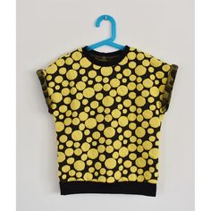 kid's top yellow dots KT1504. size 104/110/116/122/128