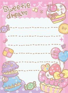 kawaii mini Memo Pad Sweets Japan Kamio 3