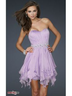 Hot Selling Summer Style Sweetheart Strapless Sleeveless Rhinestone Beaded Ruched Natural Short Chiffon Cheap Lavender Homecoming/Cocktail Dresses