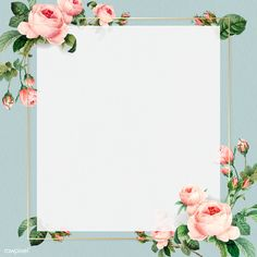 Golden square frame design vector | premium image by rawpixel.com / taus Flower Background Wallpaper, Collage Background, Framed Wallpaper, Flower Backgrounds, Bg Design, Photo Frame Design, Birthday Frames, Watercolor Wallpaper, Instagram Frame