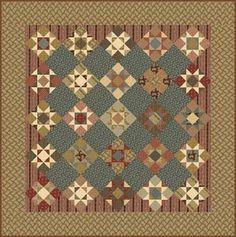 Love this layout ~ Civil War quilt blocks