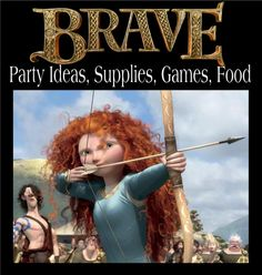 "Have you seen the new Disney movie ""Brave""  It is such a fabulous movie. Now, are you planning on having a ""Brave"" birthday party? Sounds like fun.  We've gathered together some fun ideas for your party including a link for party supplies, games and food etc."