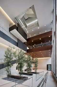 Modern office elevator lobby ceiling lights google for Hotel lobby design trends