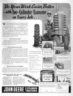 John Deere 2 Cylinder Tractor (1939)