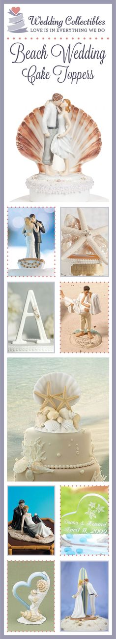 Make your special day perfect with our 100% customizable & gorgeous beach wedding cake toppers! View the full collection here: http://www.weddingcollectibles.com/Beach/