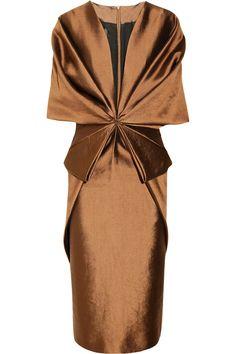 Haider Ackermann Origami wool and silk-blend dress NET-A-PORTER.COM