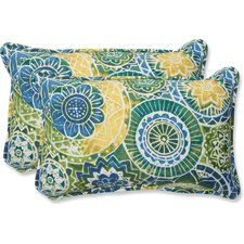 Add a bold touch to your outdoor space with the Pillow Perfect Omnia Lagoon Rectangular Throw Pillow - Set of 2 , enlivened in a colorful mandala. Outdoor Cushions And Pillows, Buy Pillows, Bench Cushions, Decorative Throw Pillows, Outdoor Pillow, Throw Pillow Sets, Lumbar Pillow, Pillow Talk, Pillow Dress