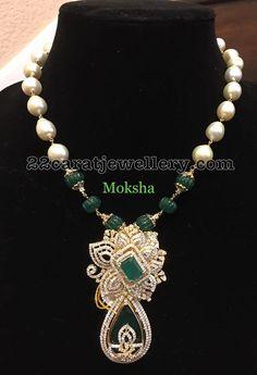 Beads Set with Classic Diamond Pendant